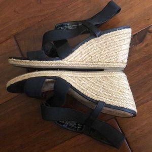 Merona Black Wedge Sandals